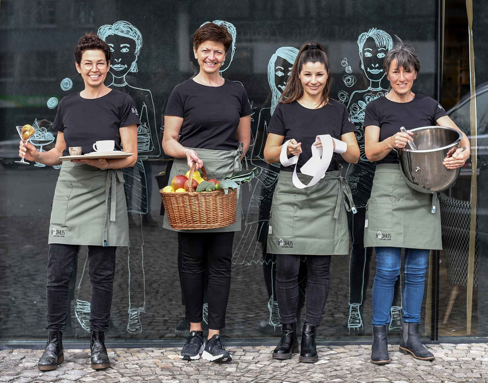 Wir freuen uns über euren Besuch! Manuela, Martina, Sarah und Paula